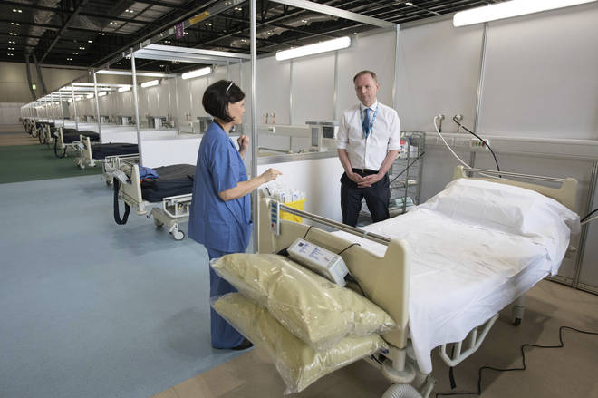 The hospital will initially accept 42 patients before being opened to 500, and later 4,000