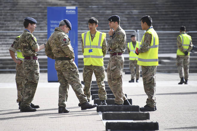 More than 200 military personnel have been helping get the hospital ready