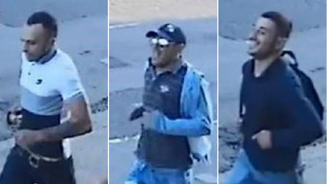 Police trying to track three men over the violent robbery of an 82-year-old