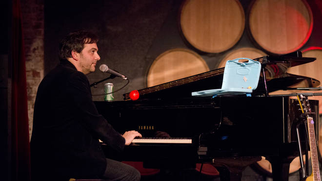 Adam Schlesinger of Fountains of Wayne performs at John Wesley Harding's Cabinet of Wonders concert