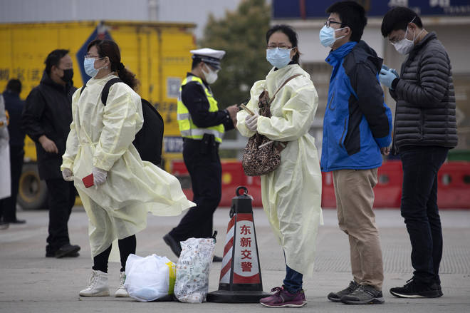 The coronavirus pandemic began in Wuhan, China