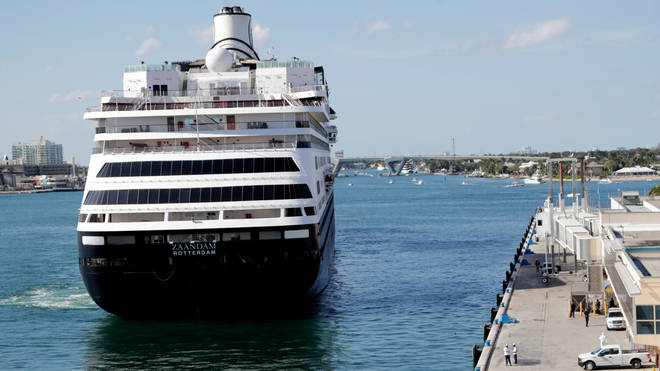 Zaandam arrives at Port Everglades during the new coronavirus pandemic