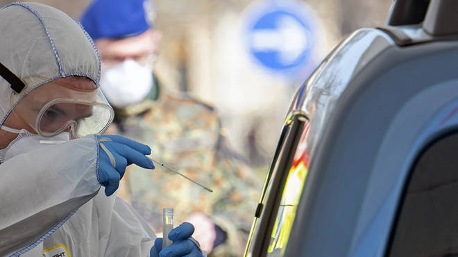 Coronavirus drive through testing is a popular method in Germany