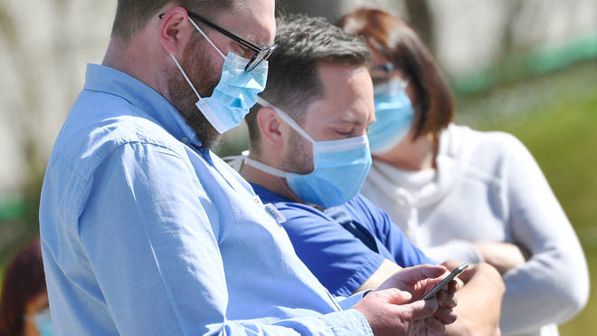 File photo: The app, which is also being used by healthcare and hospital workers nationwide, allows contributors to track their daily health