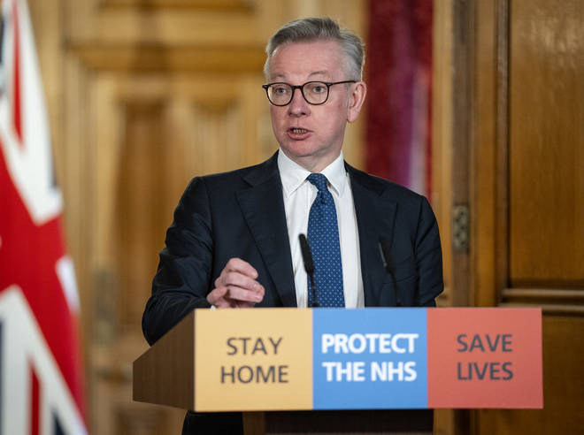 Michael Gove was answering questions from LBC's Ben Kentish