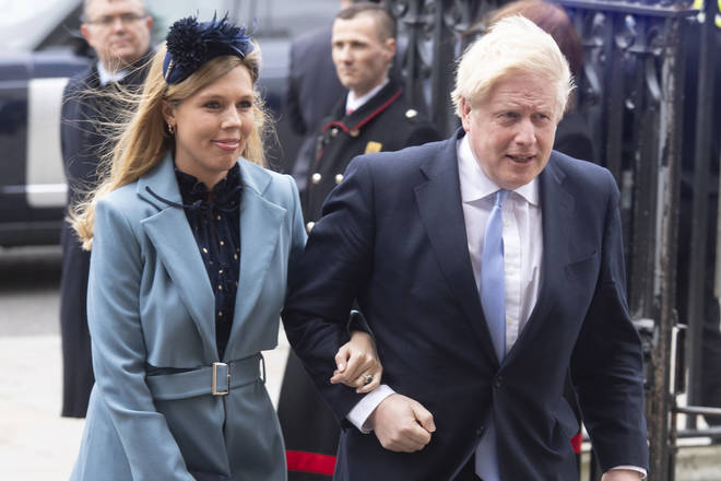 Carrie Symonds with Boris Johnson