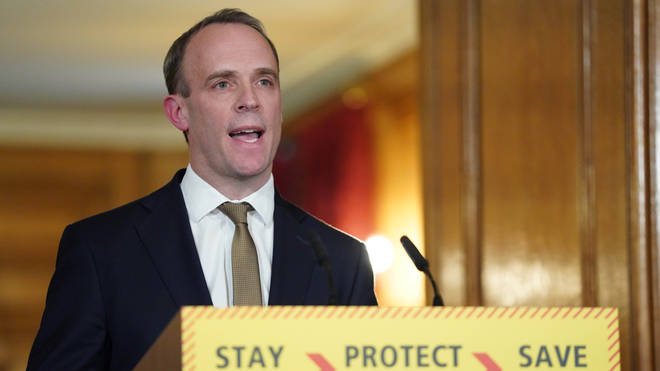 "Foreign Secretary Dominic Raab has been named as ""designated survivor"" should Mr Johnson be unable to continue"
