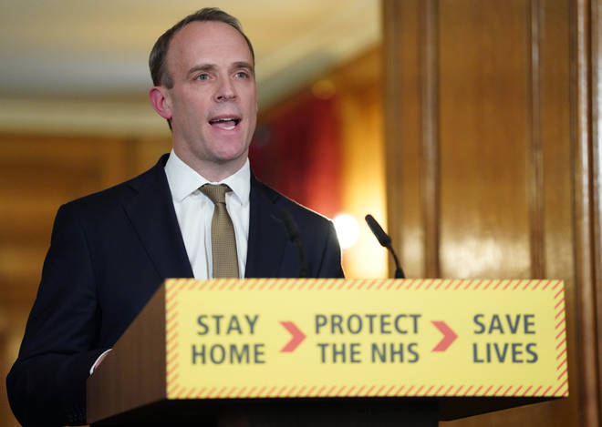 "Dominic Raab is the ""designated survivor to the Prime Minister"""