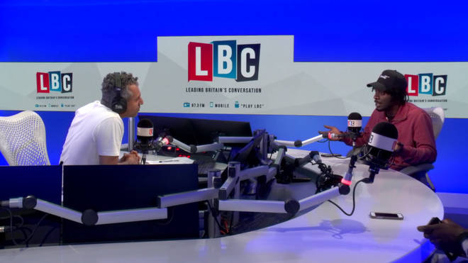 'The Grime Minister' Saskilla interviewed by Maajid Nawaz in the LBC studio