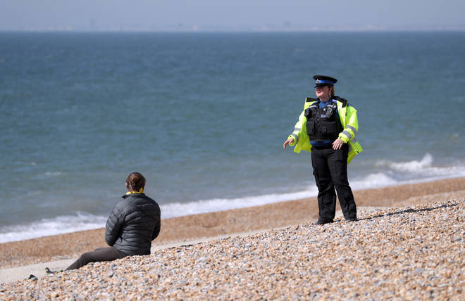 Sussex Police were on patrol on beaches across the county over the weekend
