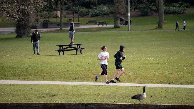 The UK have been warned outdoor exercise could be banned