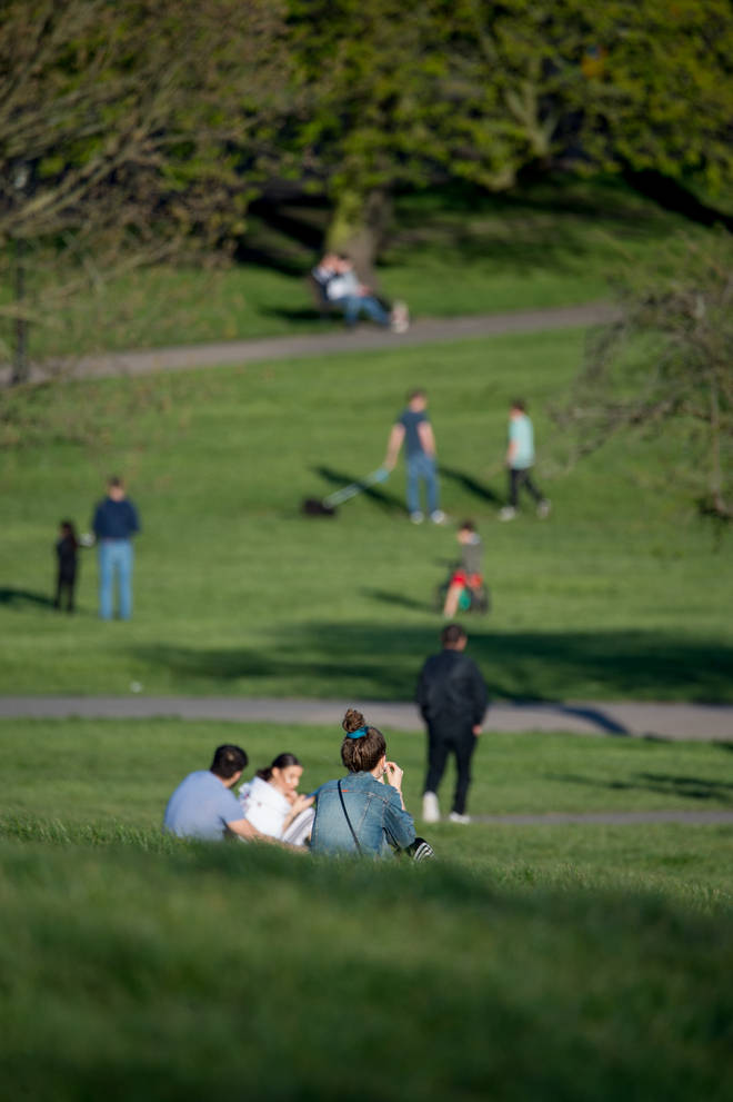 One London authority closed a park over the weekend after reporting thousands of visitors