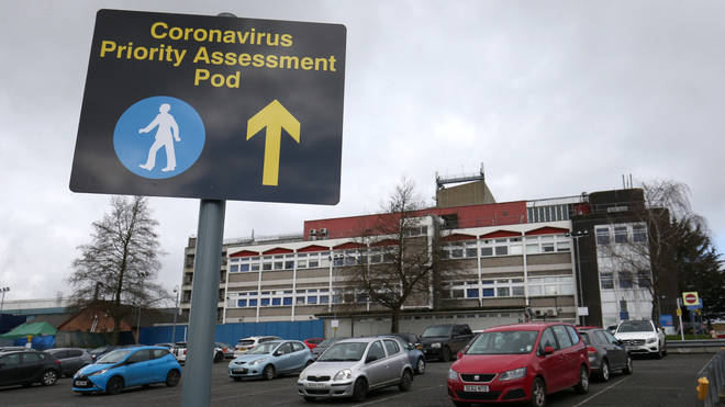 """Watford General Hospital, which has been inundated with coronavirus sufferers, declared a """"critical incident"""" on Saturday"""