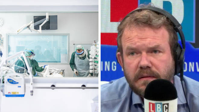 James O'Brien spoke to an emotional nurse who is battling coronavirus