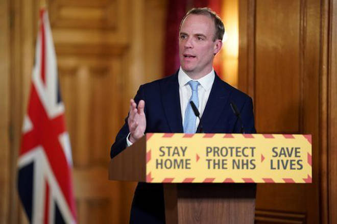Dominic Raab is standing in for the PM while he is in hospital