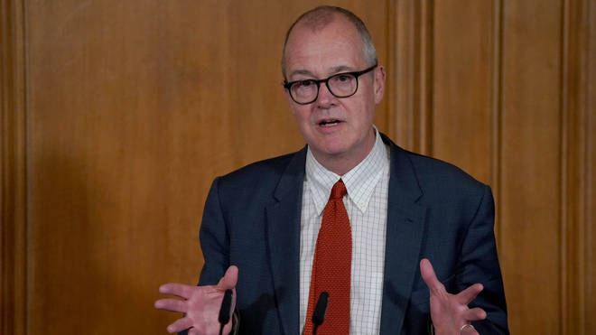 The government's chief scientific adviser was speaking at the daily Downing Street briefing