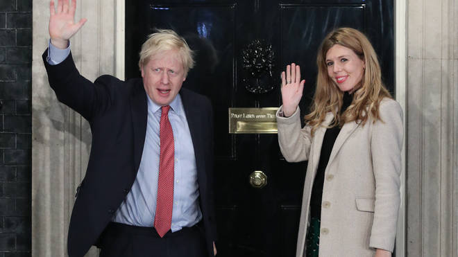 Mr Johnson's fiancee Carrie Symonds is currently heavily pregnant