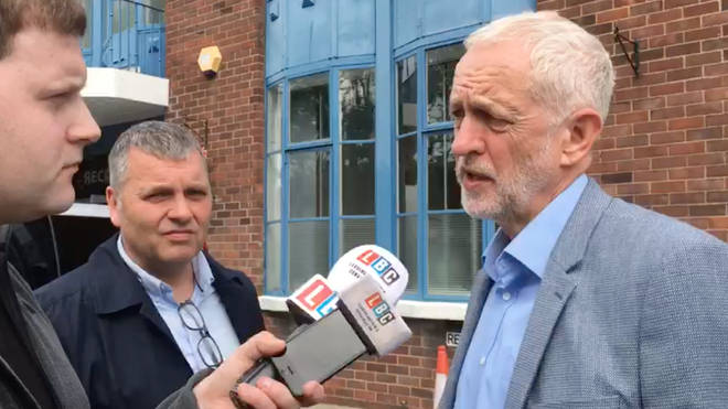 Jeremy Corbyn speaks to LBC as he begins a four-day tour of Scotland