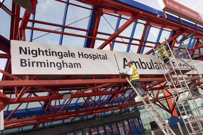 The Birmingham NEC is being converted into an NHS Nightingale