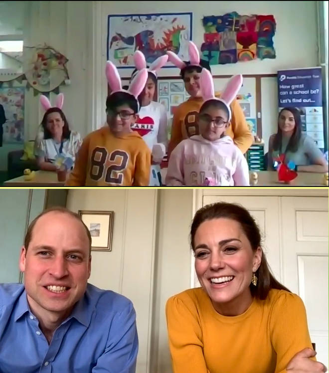 """William and Kate conducted a """"virtual"""" visit"""