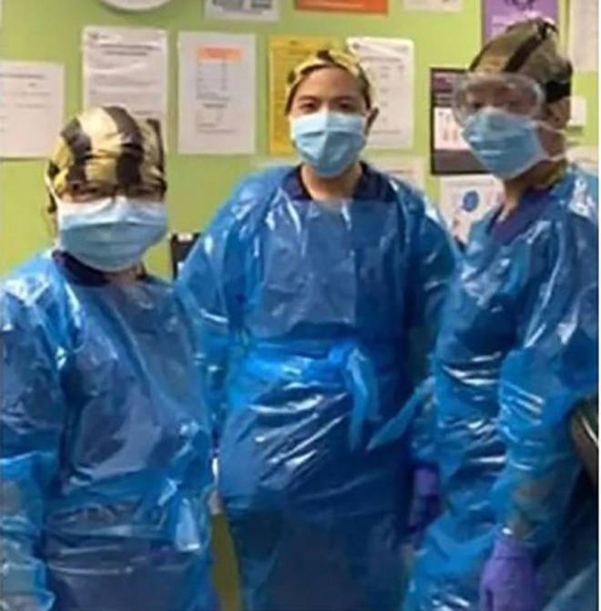 The three nurses have reportedly tested positive for Covid-19