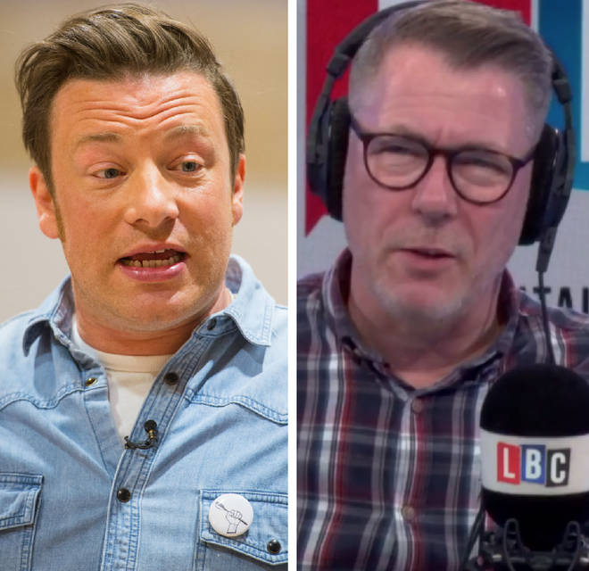 Ian Collins battled with a caller over Jamie Oliver's jerk rice