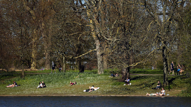 Some have been flouting lockdown rules to take advantage of the warmer weather