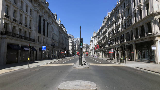 Much of the capital's roads lie empty as people abide by stay at home rules