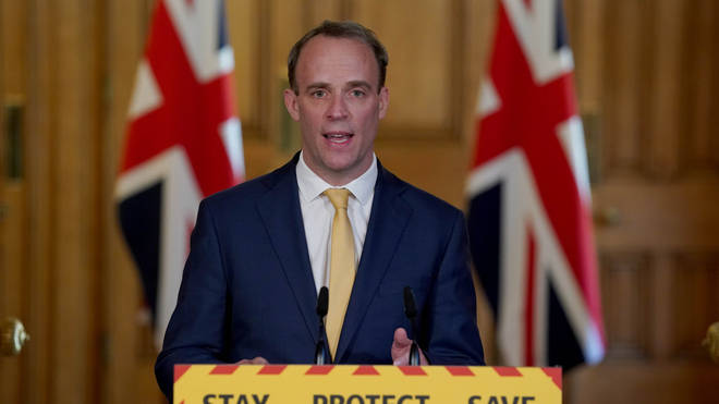 Foreign Secretary Dominic Raab will deliver today's coronavirus briefing