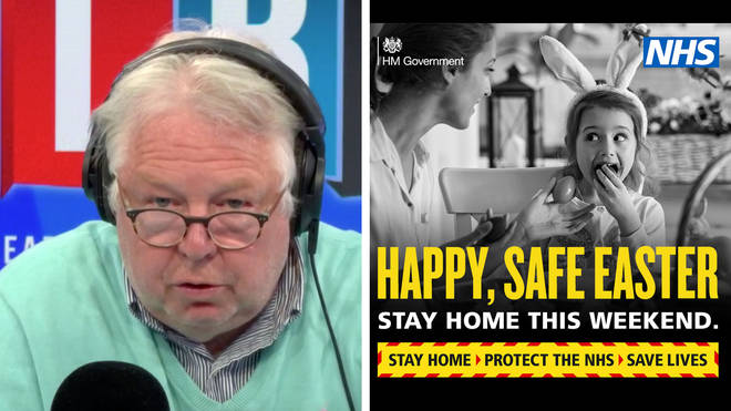 Nick Ferrari told people to stay at home
