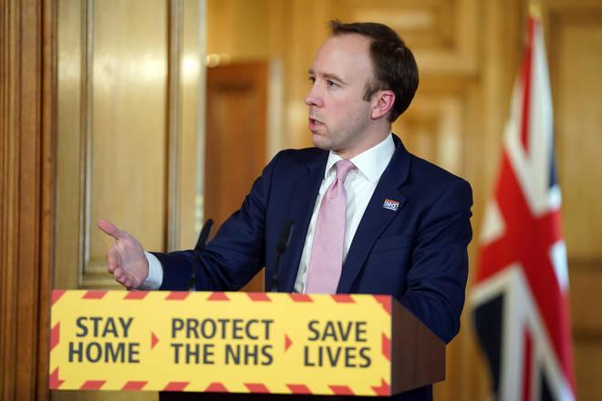 Matt Hancock was speaking at the government's daily coronavirus briefing
