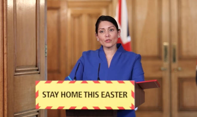 Home Secretary Priti Patel was leading her first daily press briefing