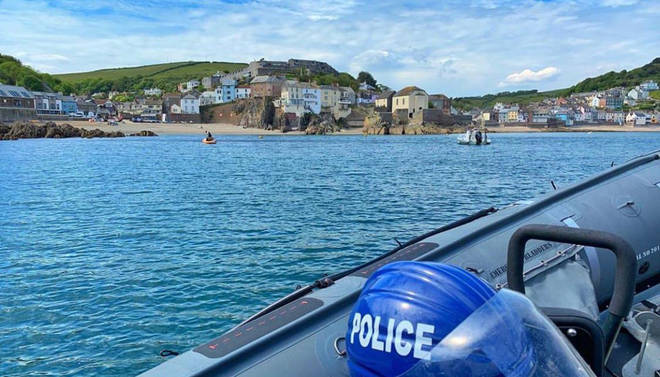 Devon and Cornwall Police fined a family for travelling from London for a fishing trip
