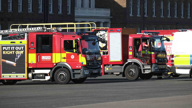 3,000 fire and rescue workers are in self isolation (file image)