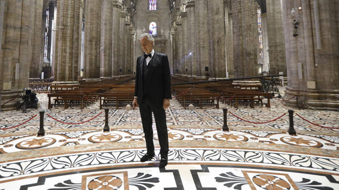 Viewers said Bocelli's performance left them in tears