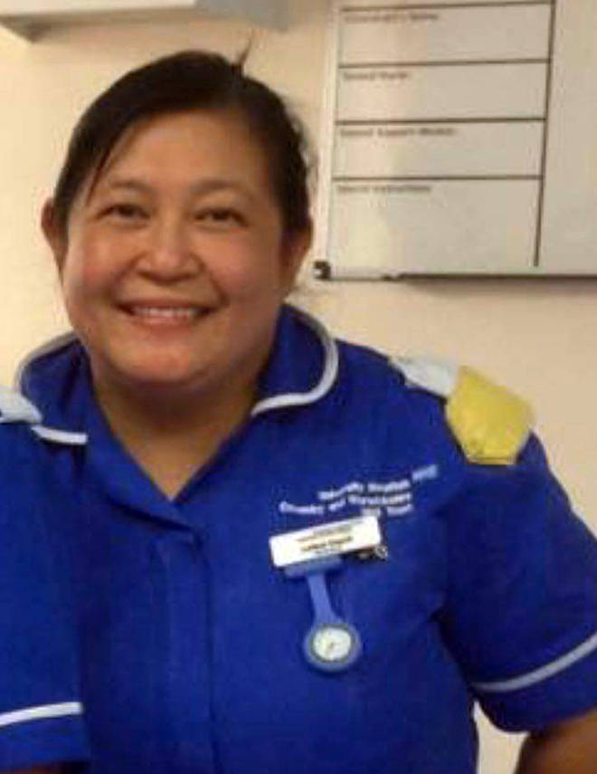 "Ms Dayrit, who was described as a ""ray of sunshine"", worked at St Cross Hospital in Rugby, died on April 7."