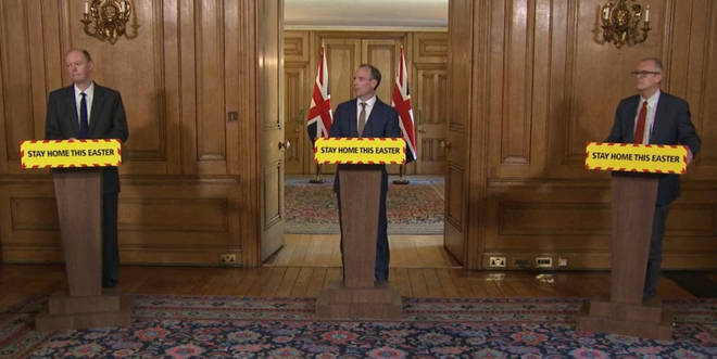 Mr Raab made the comments at the daily press conference at Downing Street
