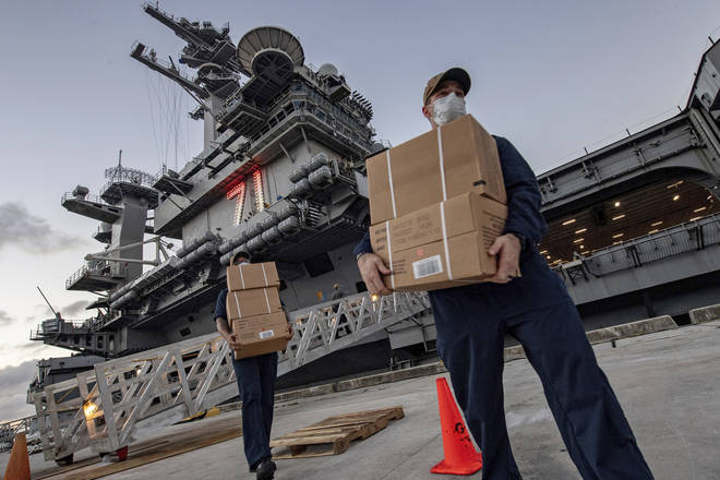 A sailor has died after contracting coronavirus on the US warship the USS Theodore Roosevelt