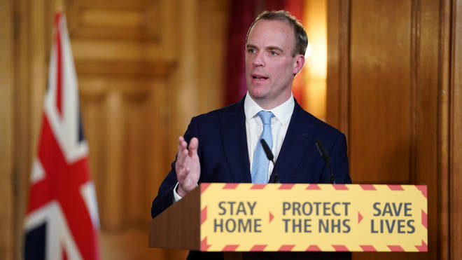 Dominic Raab earlier said the UK will not be lifting lockdown measures