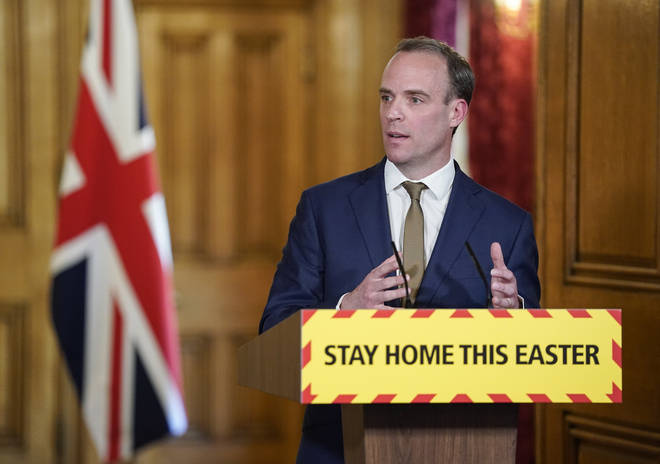 Dominic Raab made the comments at a Downing Street briefing