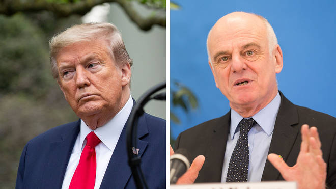 Special Envoy to the WHO Dr David Nabarro responded to Donald Trump's decision to cut funding