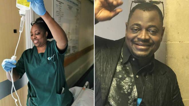 Josiane Zauma Ebonja Ekoli (left) and Ade Raymond (right) both died after contracting coronavirus