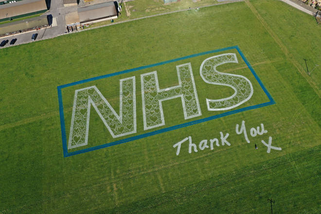The artwork appeared in a Yorkshire field