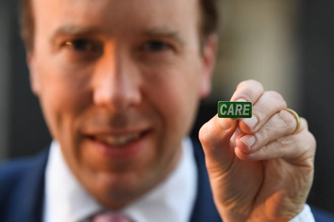 Matt Hancock has announced a new care badge