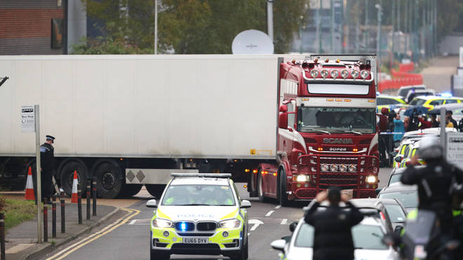 39 bodies were found in the back of a lorry in Grays, Essex, last year