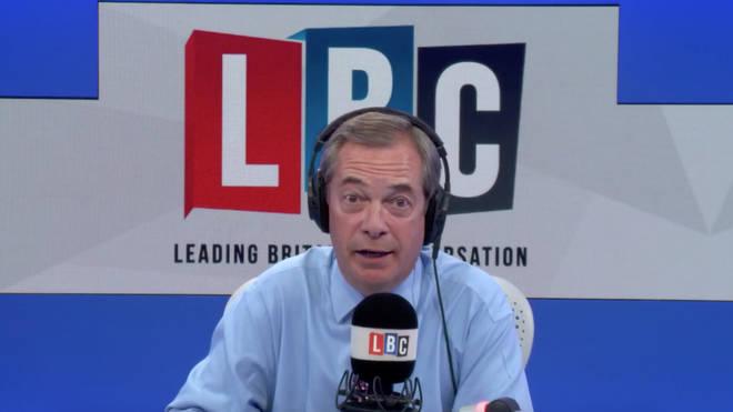 Nigel Farage in the LBC studio