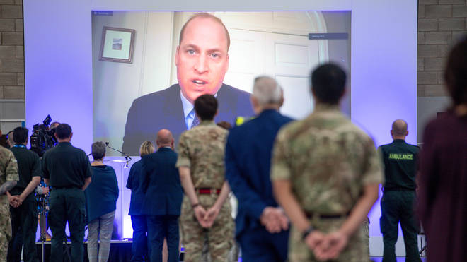The duke opened the facility via video link to adhere to social distancing rules