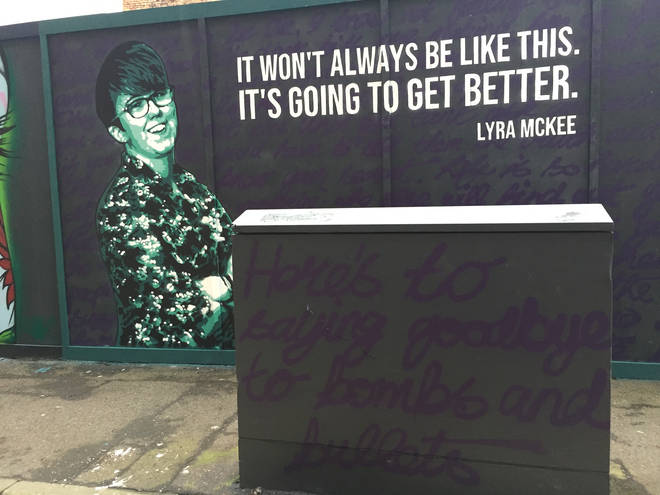 A mural in honour of the murdered journalist