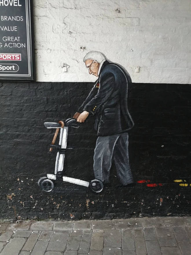 The mural is the latest in a series honouring the NHS