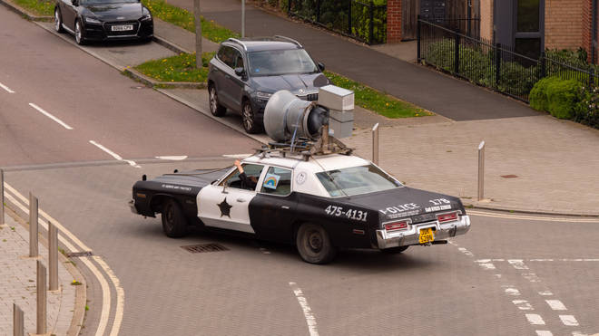 The Bluesmobile was kitted out just as it was in the 1980 movie